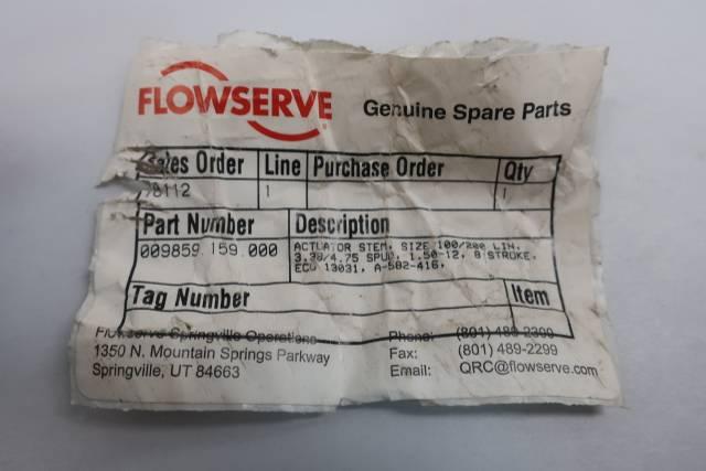 FLOWSERVE 009859.159.000 ACTUATOR STEM SIZE 100/200 D660610
