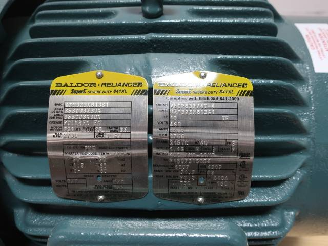 BALDOR VECP83774T-4 SUPER E 215TC 3PH 10HP 1760RPM 460V-AC AC MOTOR