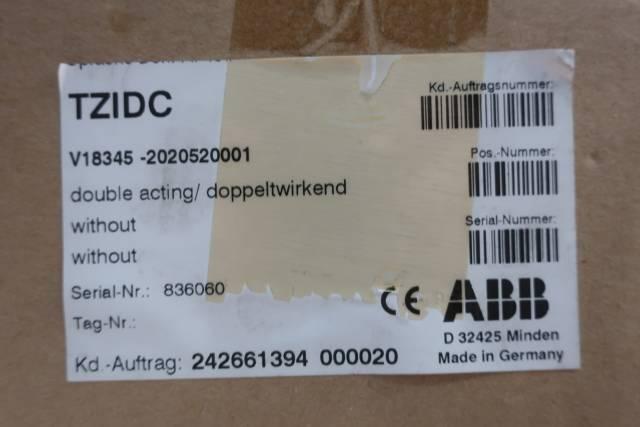 ABB V18345-2020520001 TZIDC PNEUMATIC VALVE POSITIONER D646780