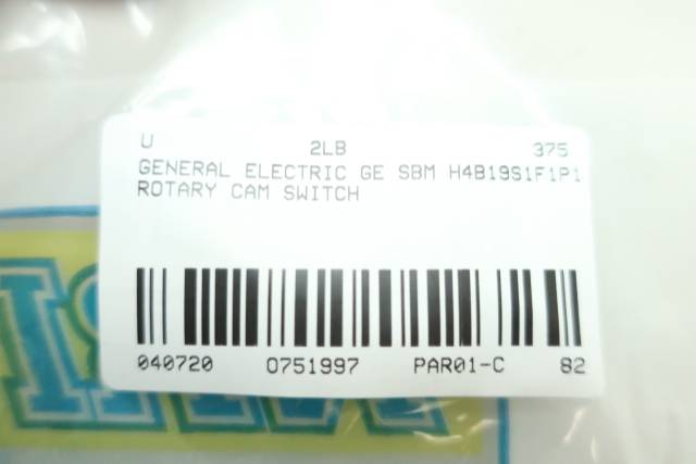 GENERAL ELECTRIC GE SBM H4B19S1F1P1 ROTARY CAM SWITCH