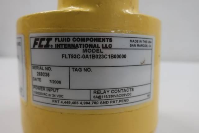 FCI FLT93C-0A1B023C1B00000 FLOW SWITCH 115/220V-AC 24V-DC