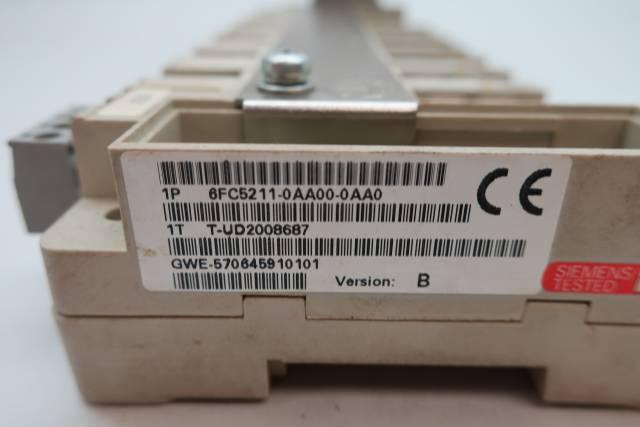 SIEMENS 6FC5211-0AA00-0AA0 8-SLOT TERMINAL BLOCK RACK CHASSIS MODULE