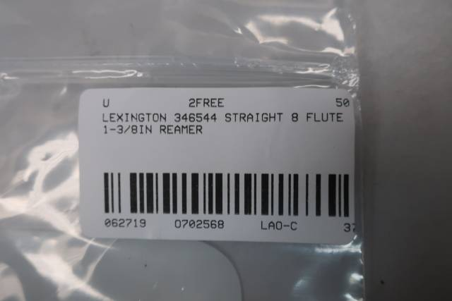 LEXINGTON 346544 STRAIGHT 8 FLUTE 1-3/8IN REAMER