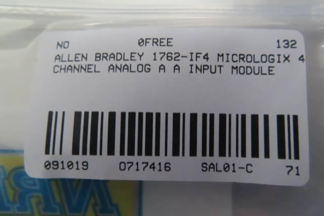 ALLEN BRADLEY 1762-IF4 MICROLOGIX 4 CHANNEL ANALOG SER A INPUT MODULE