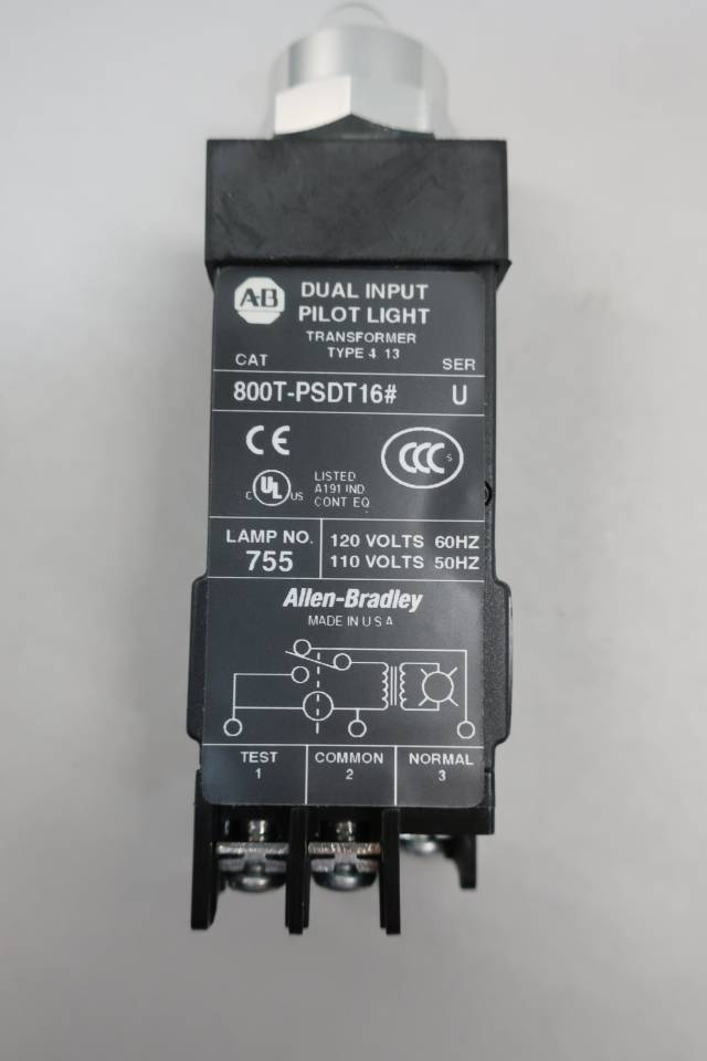 ALLEN BRADLEY 800T-PSDT16 PILOT LIGHT 120V-AC SER U