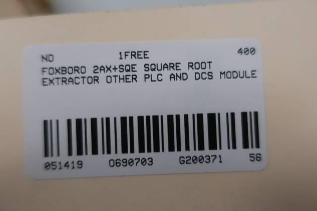 FOXBORO 2AX+SQE SQUARE ROOT EXTRACTOR MODULE