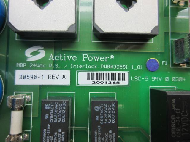 ACTIVE POWER 30590-1 MAIN POWER SUPPLY 24V-DC REV A CIRCUIT BOARD D594444