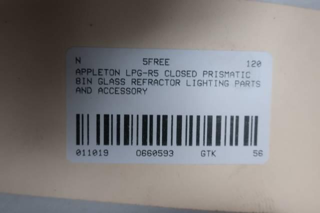 APPLETON LPG-R5 CLOSED PRISMATIC 8IN GLASS REFRACTOR D660593