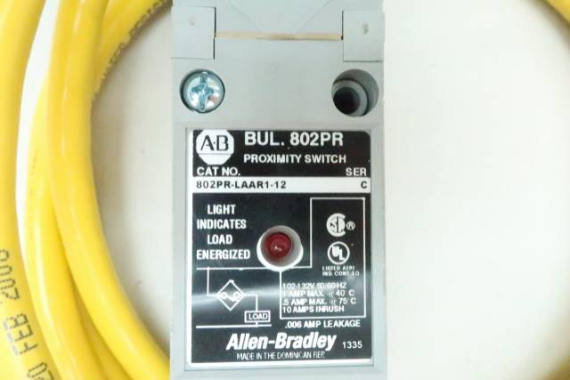 ALLEN BRADLEY 802PR-LAAR1-12 PROXIMITY LIMIT SWITCH 102-132V-AC SER C