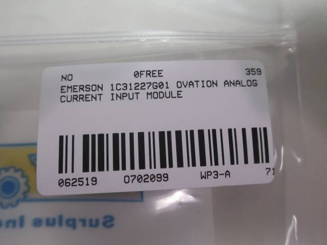 EMERSON 1C31227G01 OVATION ANALOG CURRENT INPUT MODULE