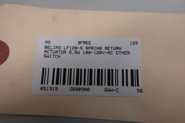 BELIMO LF120-S SPRING RETURN ACTUATOR SWITCH 5.5W 100-120V-AC