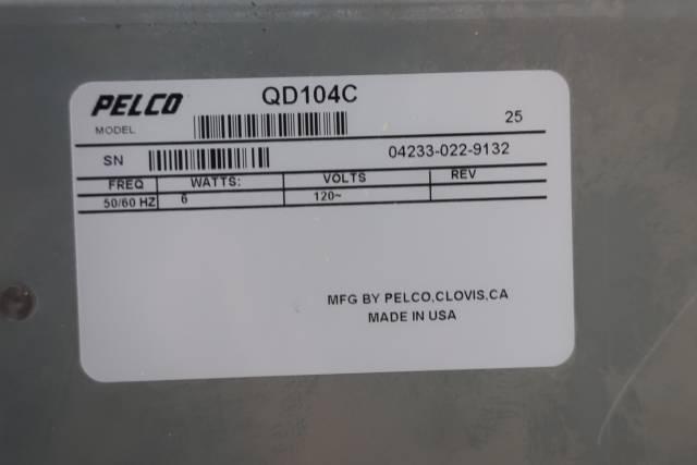 PELCO QD104C COLOR VIDEO PROCESSOR 120V-AC D660831