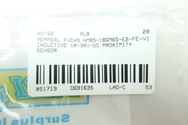 PEPPERL FUCHS NMB5-18GM65-E2-FE-V1 INDUCTIVE PROXIMITY SENSOR 10-30V-DC