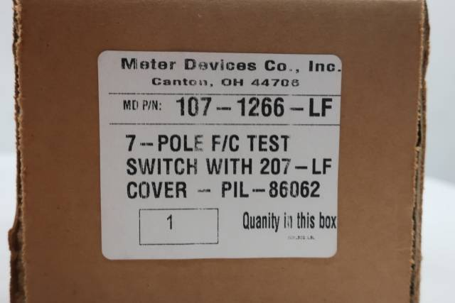 METER DEVICES 107-1266-LF 7 POLE F/C TEST SWITCH