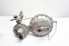 FISHER Y191A LOW GAS BLANKETING 150 STAINLESS FLANGED 1IN PRESSURE REDUCING REGULATOR VALVE