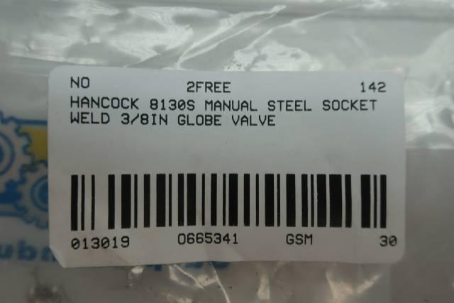 HANCOCK 8130S SOCKET WELD NEEDLE VALVE 3/8IN D665341