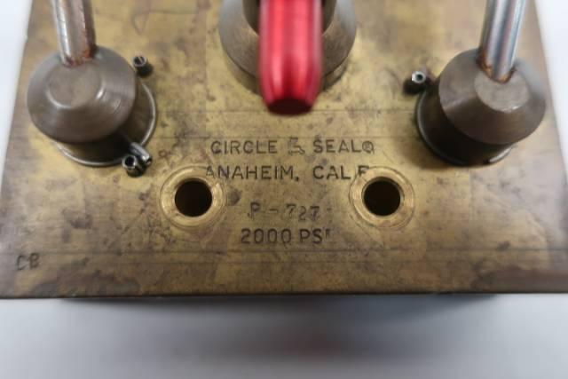 CIRCLE SEAL P-727 2000PSI 1/4IN NPT MANUAL DIRECTIONAL CONTROL VALVE D660428