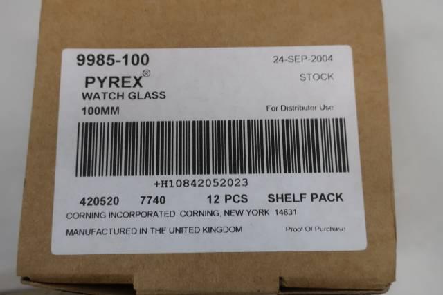 BOX OF 12 PYREX 9985-100 WATCH GLASS 100MM