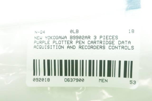 SET OF 3 YOKOGAWA B9902AR PURPLE PLOTTER CHART RECORDER PEN D637900