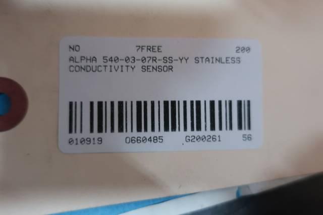 ALPHA 540-03-07R-SS-YY STAINLESS CONDUCTIVITY SENSOR D660485