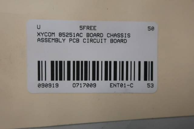 XYCOM 85251AC BOARD CHASSIS ASSEMBLY