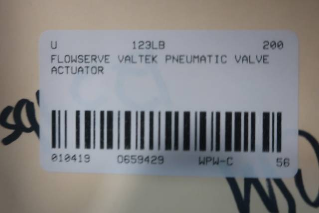 FLOWSERVE VALTEK PNEUMATIC VALVE ACTUATOR D659429