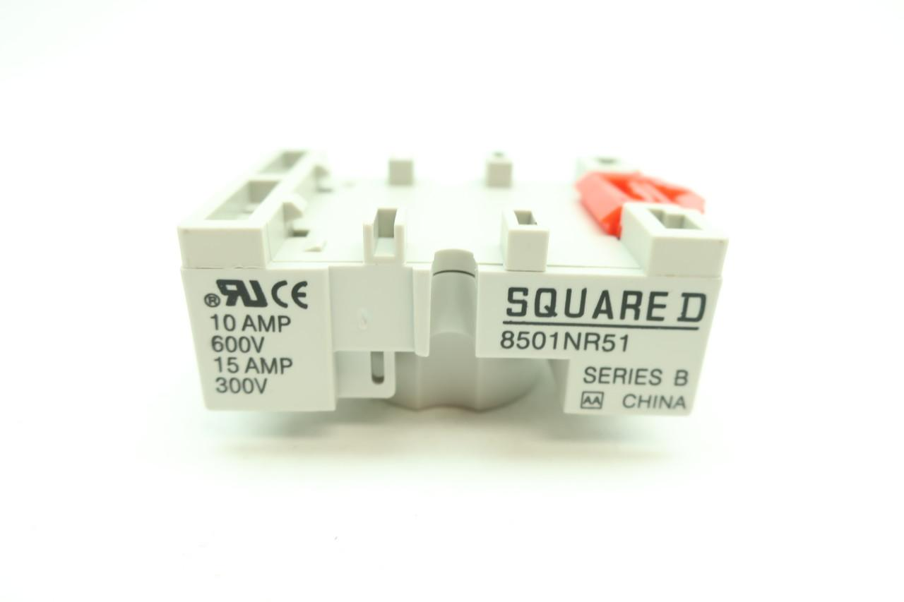 Square D 8501NR51 Series B Realy Socket 10 Amp 600V NEW