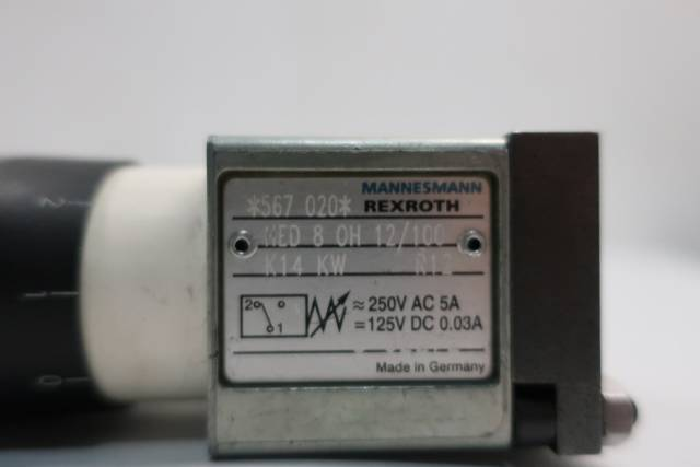 REXROTH HED 8 0H 12/100 MANNESMANN PRESSURE SWITCH 20-100BAR 250V-AC 125V-DC