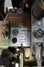 EC&M 7004 MXCO-1 LINE ARC SIZE 1 DC CONTACTOR 115/120V-DC 25A AMP D648466
