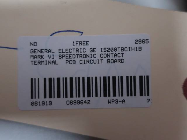 GE IS200TBCIH1B MARK VI SPEEDTRONIC CONTACT TERMINAL CIRCUIT BOARD