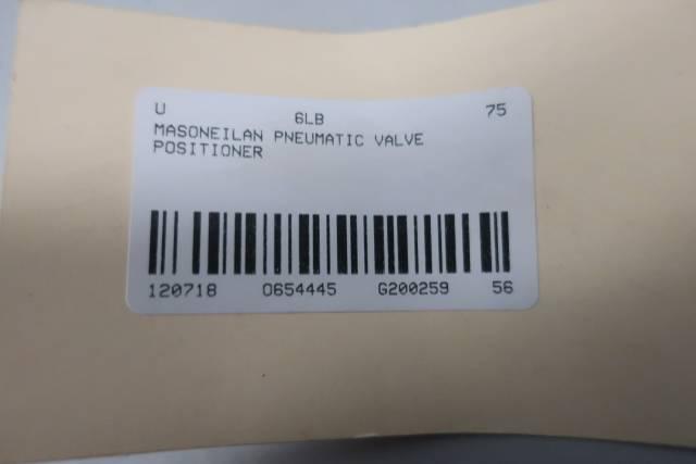 MASONEILAN 7400-802 PNEUMATIC VALVE POSITIONER D654445