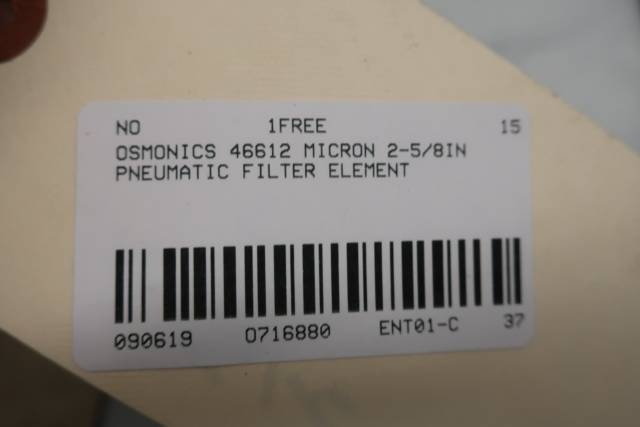 OSMONICS 46612 MICRON PNEUMATIC FILTER 2-5/8IN