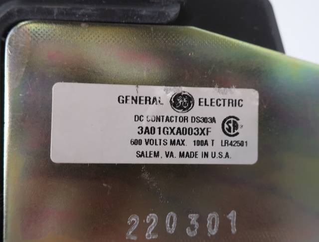 GENERAL ELECTRIC GE 3A01GXA003XF DC CONTACTOR DS303A 115-120V-DC 100A AMP