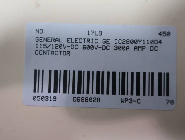 GENERAL ELECTRIC GE IC2800Y110D4 62V-DC 300A AMP DC CONTACTOR R688028