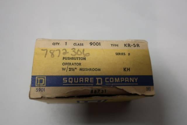 SQUARE D 9001 KR-5R 2-1/4IN MUSHROOM PUSHBUTTON OPERATOR SER F