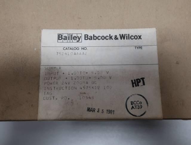 BAILEY 752410AAAA2 SUMMER INPUT MODULE R690896